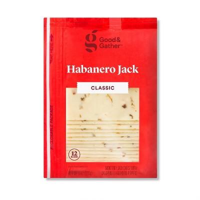 Habanero Monterey Jack Deli Sliced Cheese - 8oz/12 slices - Good & Gather™