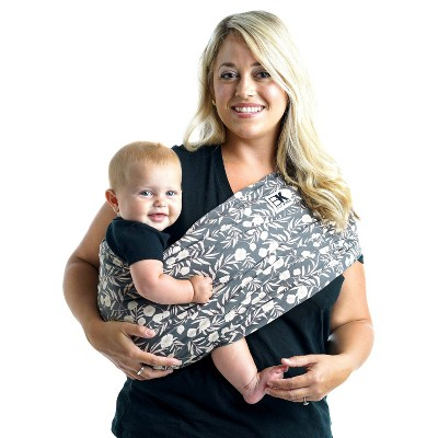 Baby K'Tan Baby Carrier Floral Garden Gray & Pink - M