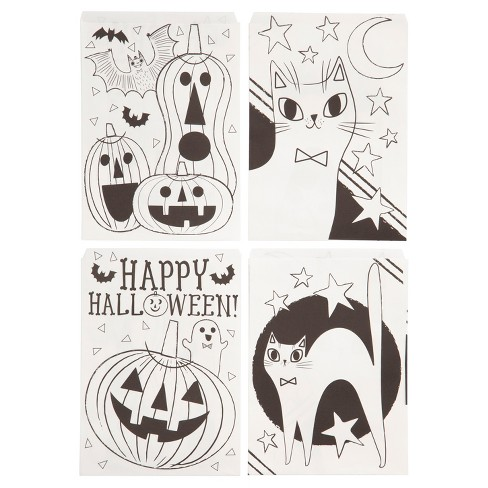 20ct happy halloween color in treat bags hyde and eek boutique
