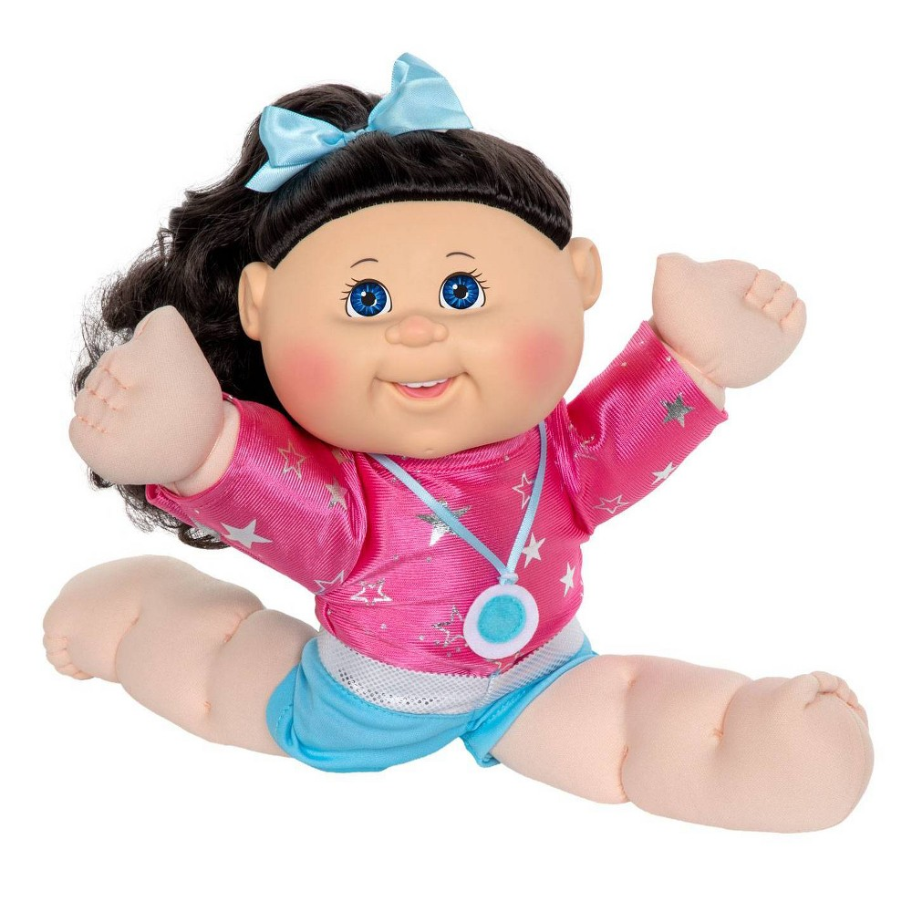 Cabbage Patch Kids 14 34 Gymnast Doll Brown Hair Blue Eyes