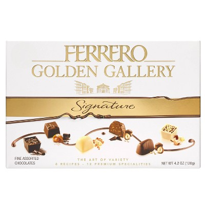 Ferrero Rocher Golden Gallery Signature Fine Assorted Chocolates - 12ct