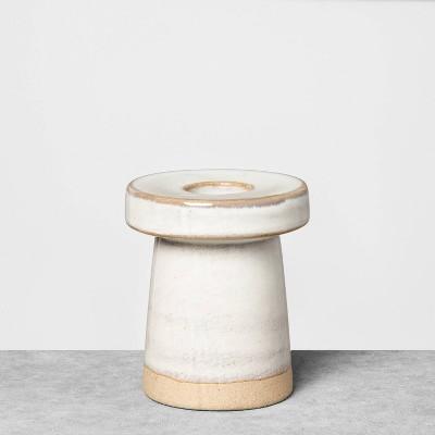 "3"" Small Stoneware Taper Candle Holder - Hearth & Hand™ with Magnolia"