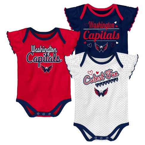 NHL Washington Capitals Girls  Winning Goal 3pk Body Suit Set   Target be02ee321