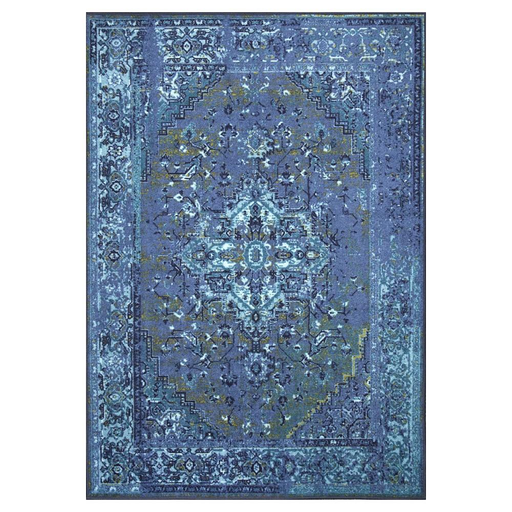 nuLOOM Nylon Vintage Reiko Area Rug - Blue (8' x 10')