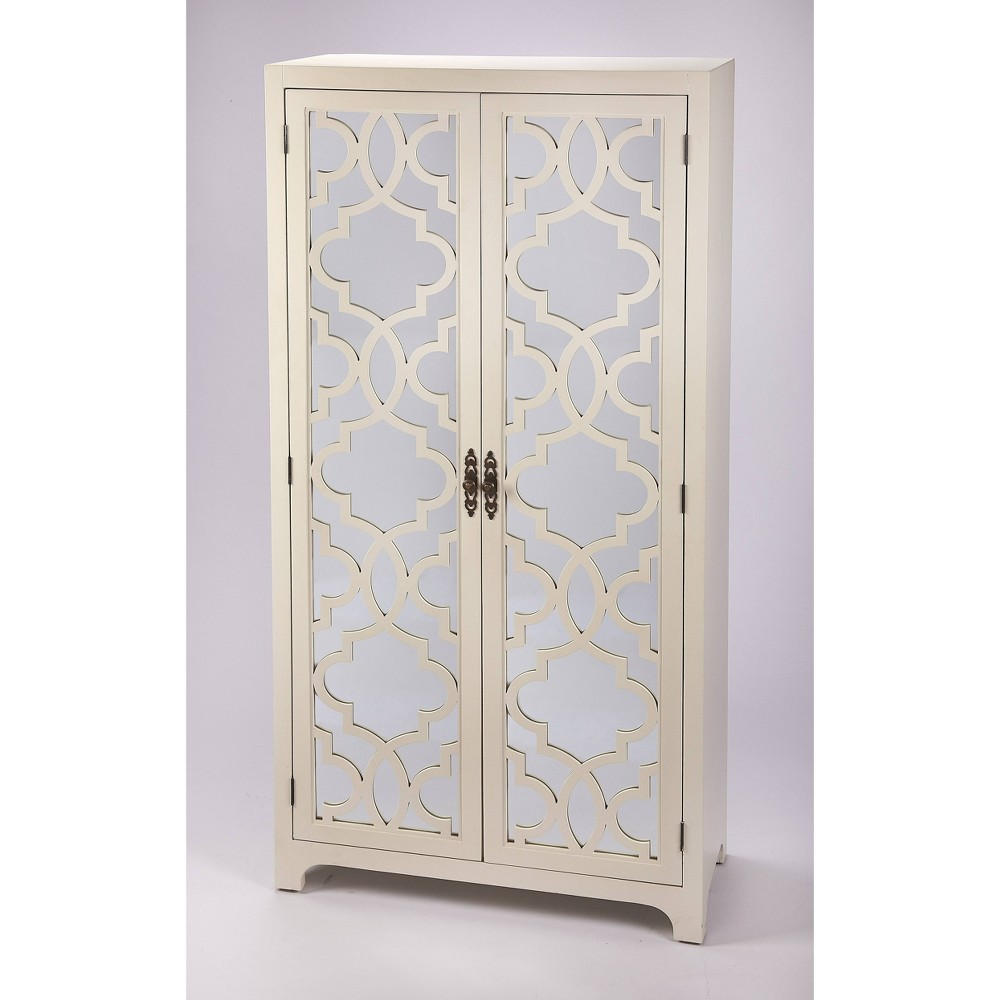 Morjanna Tall Cabinet White - Butler Specialty
