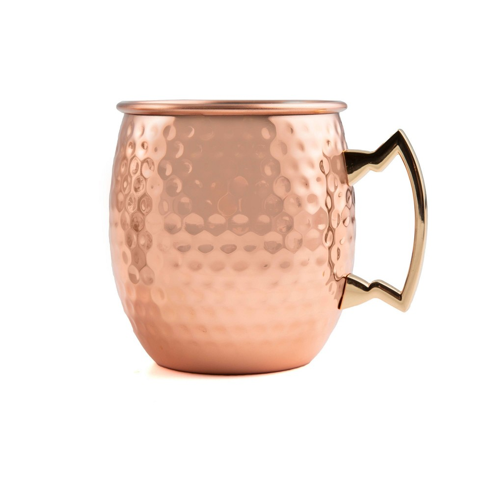 Image of Cambridge Silversmiths 19.5oz 4pk Copper Hammered Moscow Mule Mugs