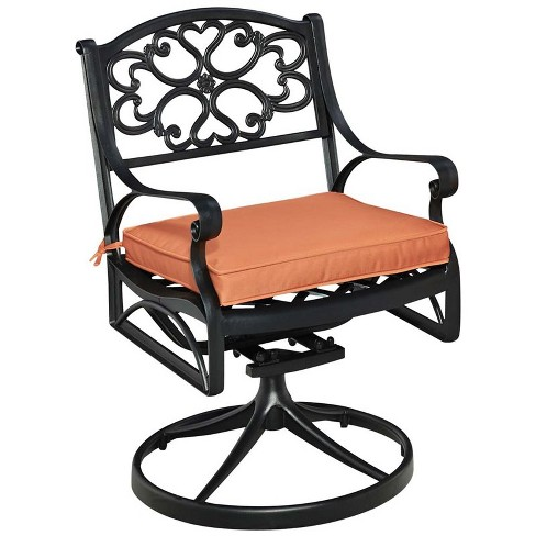 Stupendous Biscayne Swivel Rocker Patio Dining Chair In Black Home Styles Pabps2019 Chair Design Images Pabps2019Com