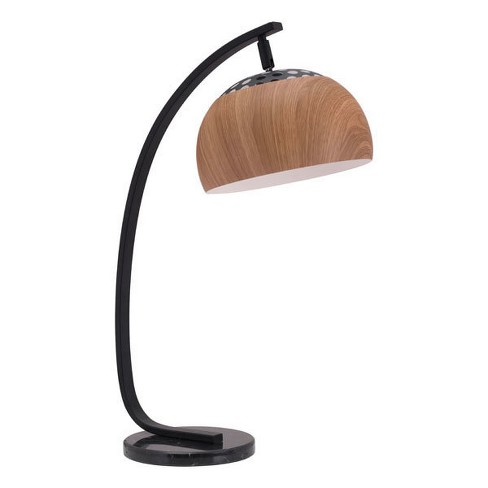"MidCentury Modern Arc Table Lamp Brown 27"" - ZM Home - image 1 of 4"