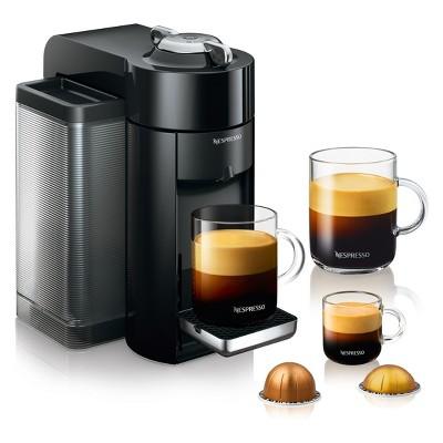 Nespresso Vertuo Coffee and Espresso Machine with Aeroccino Black by De'Longhi
