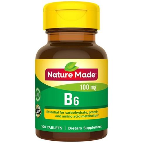 Nature Made Vitamin B6 100 mg Tablets - 100ct - image 1 of 3