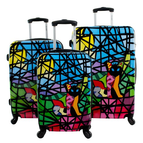 Chariot Travelware Glass 3pc Luggage Set - image 1 of 4