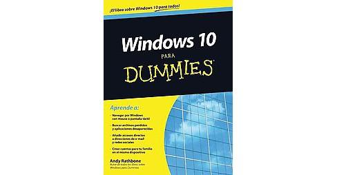 Windows 10 Para Dummies Paperback Andy Rathbone Target