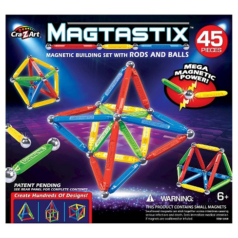 Cra-Z-Art Magtastix Balls and Rods Building Kit - 45 Piece - image 1 of 2
