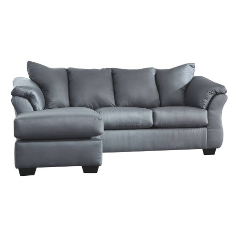 Fantastic Darcy Sofa Chaise Steel Signature Design By Ashley Gmtry Best Dining Table And Chair Ideas Images Gmtryco