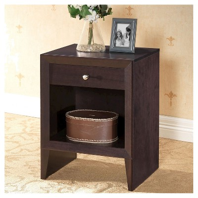 Leelanau Modern Accent Table and Nightstand Brown - Baxton Studio