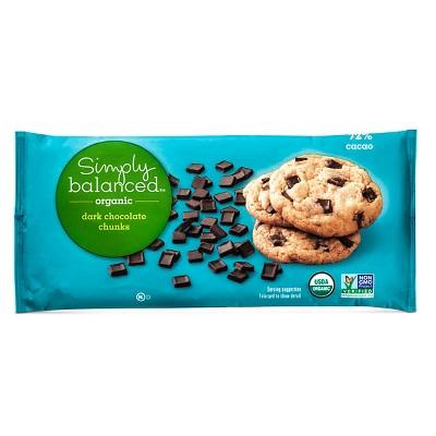 Organic Dark Chocolate Baking Chips - 10oz - Simply Balanced™