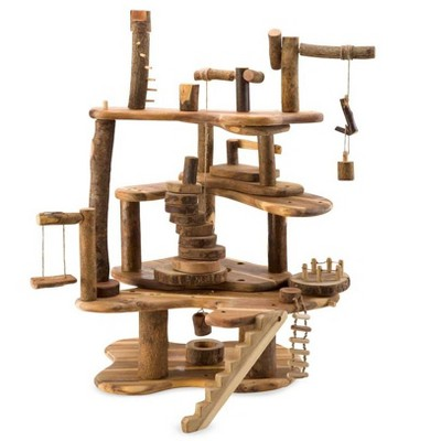 HearthSong Tree Blocks 34-Piece Tree Fort Kit, Includes Platforms, Staircase, Bridges, and More
