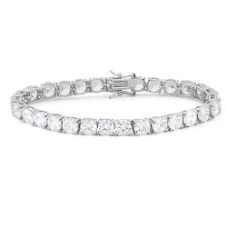 c11139e2b Women's Clear Swarovski® Crystal Tennis Bracelet In Silver Plate ...