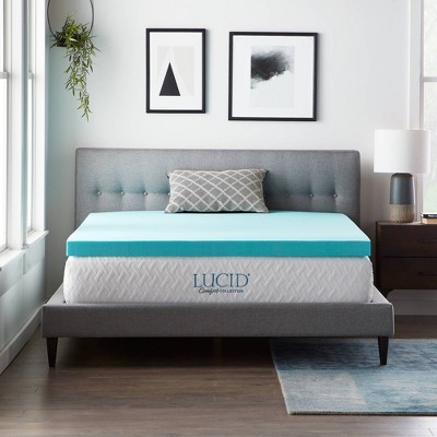 "Queen Comfort Collection 3"" SureCool Gel Infused Memory Foam Mattress Topper - Lucid"