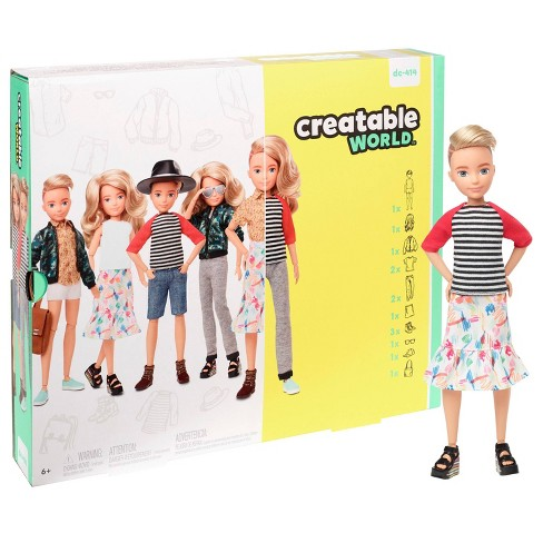 Creatable World Deluxe Character Kit Customizable Doll - Blonde Wavy Hair - image 1 of 4