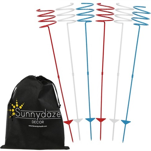 6pc Heavy-Duty Outdoor Drink Holder Set - Red/White/Blue - Sunnydaze Decor  : Target - 6pc Heavy-Duty Outdoor Drink Holder Set - Red/White/Blue - Sunnydaze
