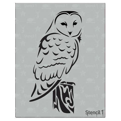 "Stencil1 Barn Owl - Stencil 8.5"" x 11"" - image 1 of 3"