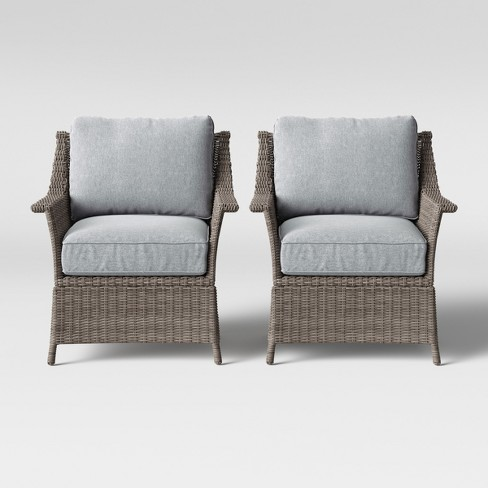 Foxborough 2pk Patio Club Chair Gray
