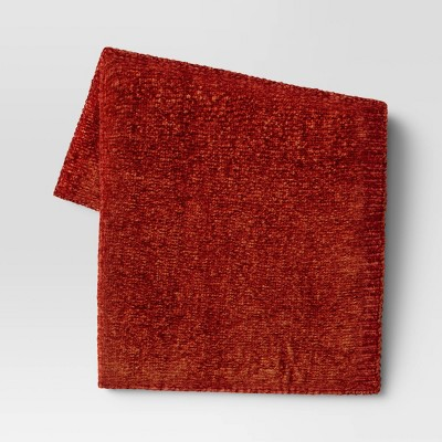 """50""""x60"""" Shiny Chenille Throw Blanket Rust - Project 62™"""