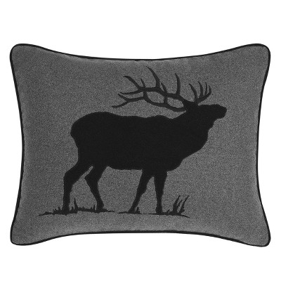 Elk Charcoal Breakfast Throw Pillow - Eddie Bauer
