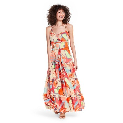 Mixed Floral Sleeveless Tiered Ruffle Dress - ALEXIS for Target
