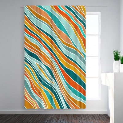 Americanflat Tulum Abstract by Modern Tropical Blackout Rod Pocket Single Curtain Panel 50x84