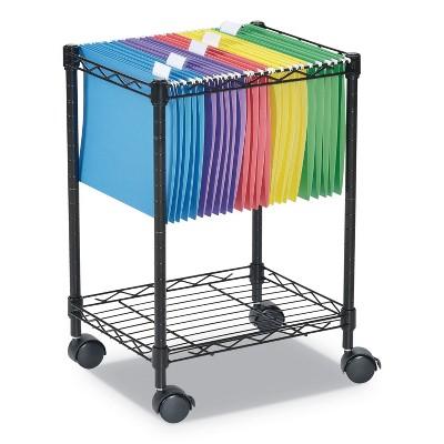 Alera® Compact Rolling File Cart 15 1/4w x 12 3/8d x 21h Black FW601416BL