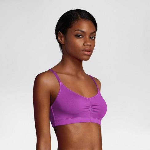 98bfa8e860 Hanes Women s Soft Pullover Wireless G541 T-Shirt Bra - Plum Dream Purple L    Target
