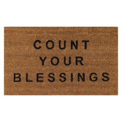 1'6 x2'6  Quote Woven Door Mat Natural - Novogratz By Momeni