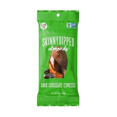 SkinnyDipped Dark Chocolate Espresso Almonds - 1.5oz