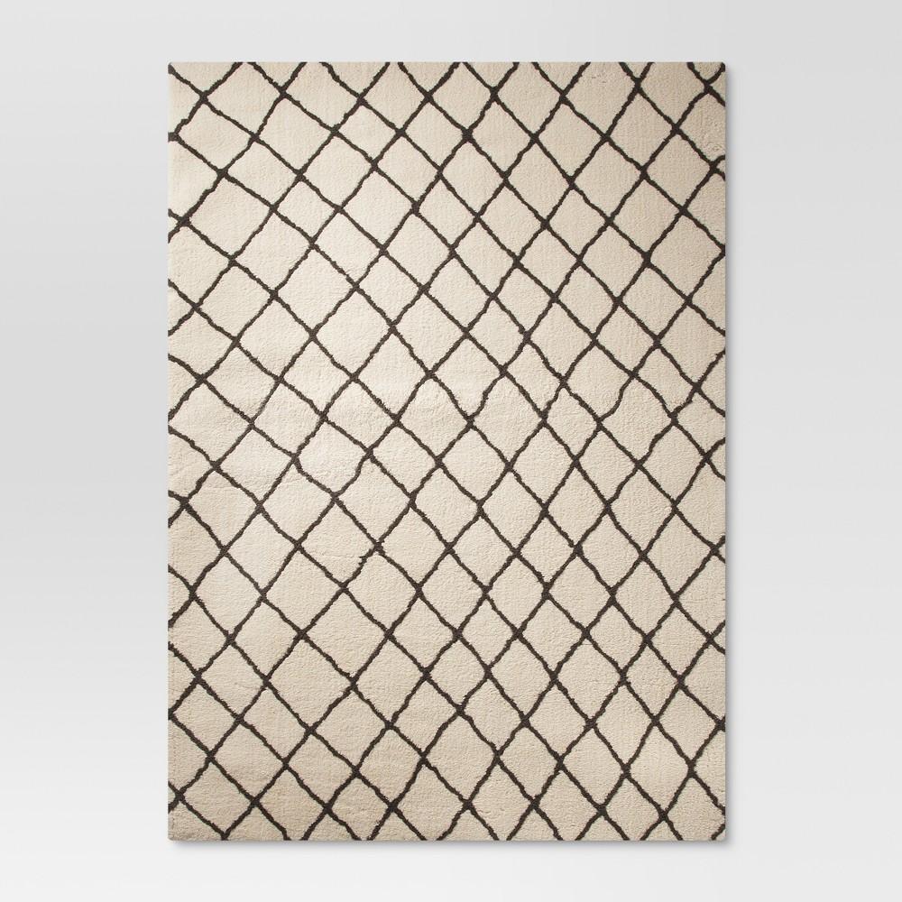 Criss Cross Fleece Rug - Cream (7'x10') - Threshold, Beige