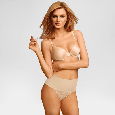Maidenform Self Expressions Women's Tame Your Tummy Thong SE0049