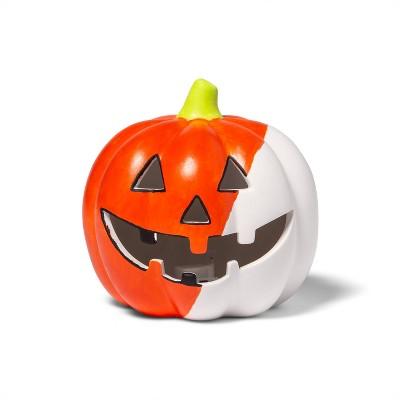 Lit Ceramic Pumpkin Small Classic - Mondo Llama™