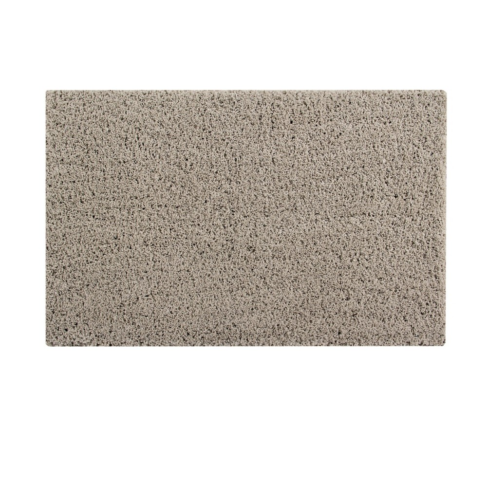 "Image of ""21""""x34"""" Micro Plush Bath Rug Beige - Better Trends"""