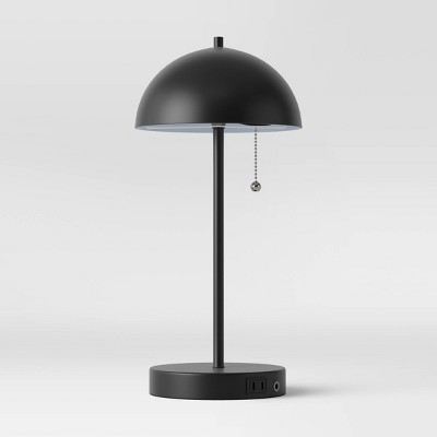 Metal Dome Table Lamp (Includes LED Light Bulb)Black - Project 62™