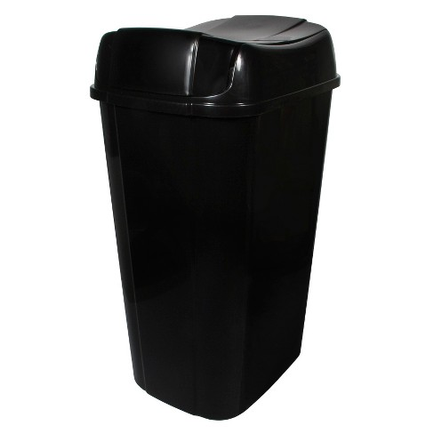 13.3gal Pivot Lid Waste Can Black - Room Essentials™ - image 1 of 4