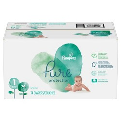 Pampers Pure Protection Diapers, Super Pack (Select Size)