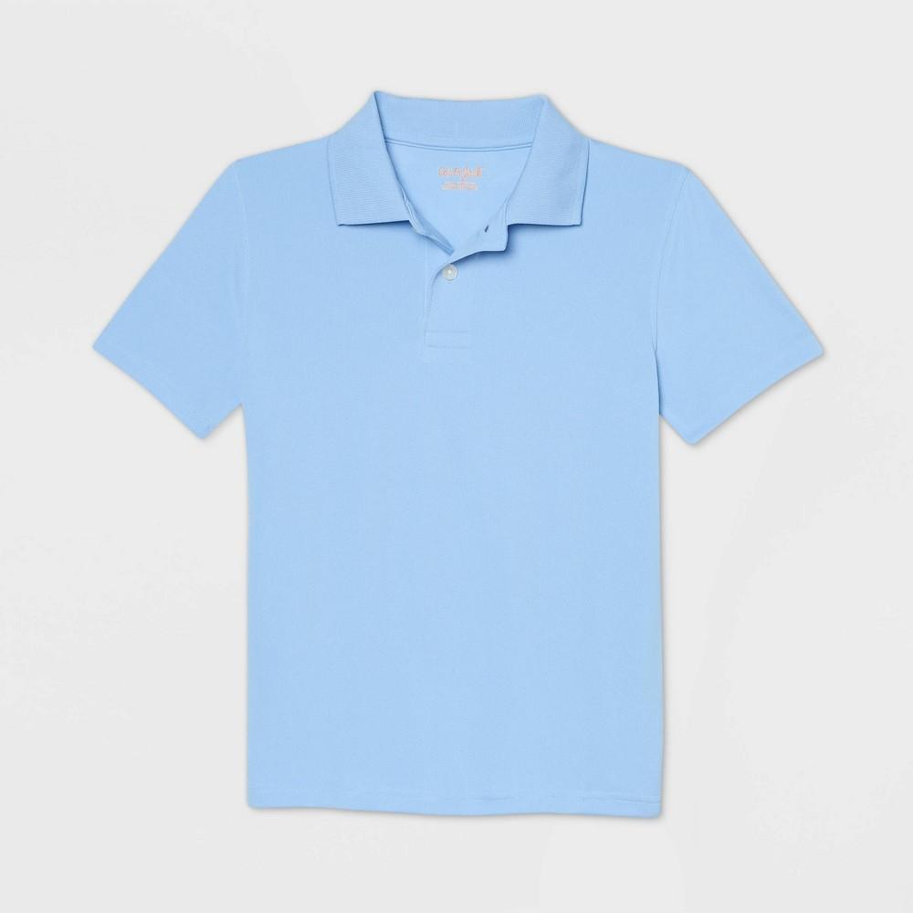 Boys 39 Short Sleeve Performance Uniform Polo Shirt Cat 38 Jack 8482 Light Blue S