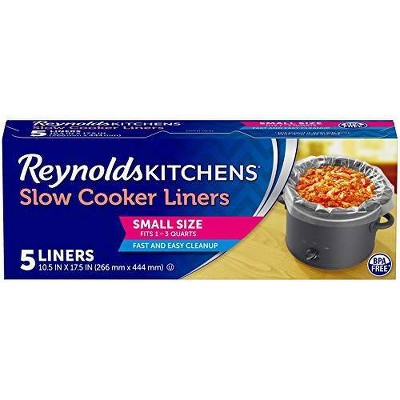 Reynolds Kitchens Small Size Slow Cooker Liners - 5ct
