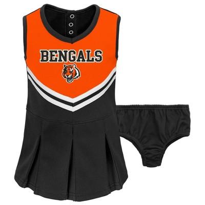 NFL Cincinnati Bengals Toddler Girls' In the Spirit Cheer Set