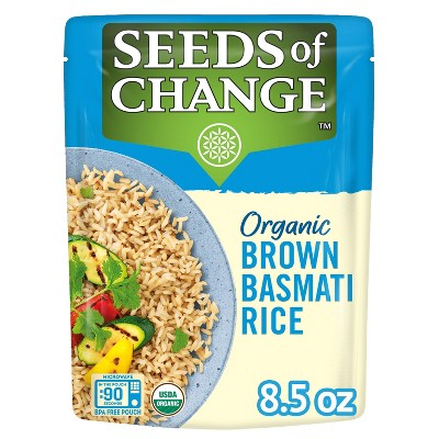 Seeds of Change Organic Brown Basmati Rice Microwavable Pouch - 8.5oz