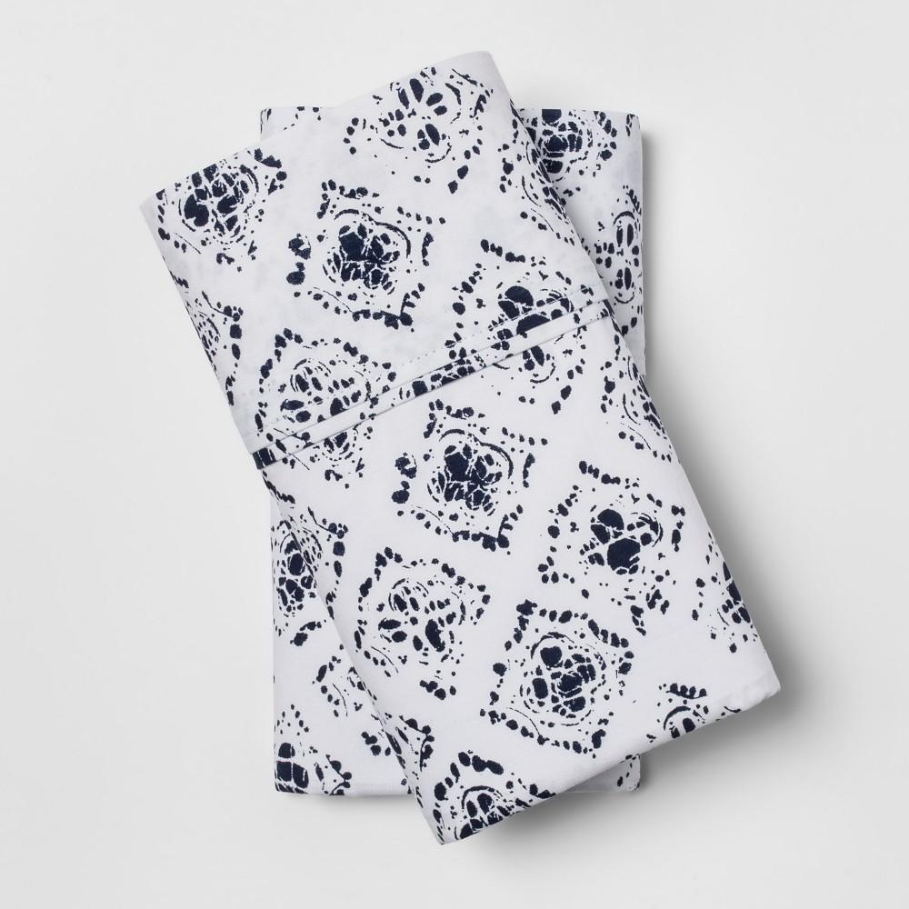 Organic Pillowcases (Standard) Navy (Blue) 300 Thread Count - Threshold