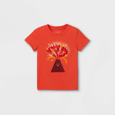 Toddler Boys' 'I'm A Blast' Graphic Short Sleeve T-Shirt - Cat & Jack™ Orange
