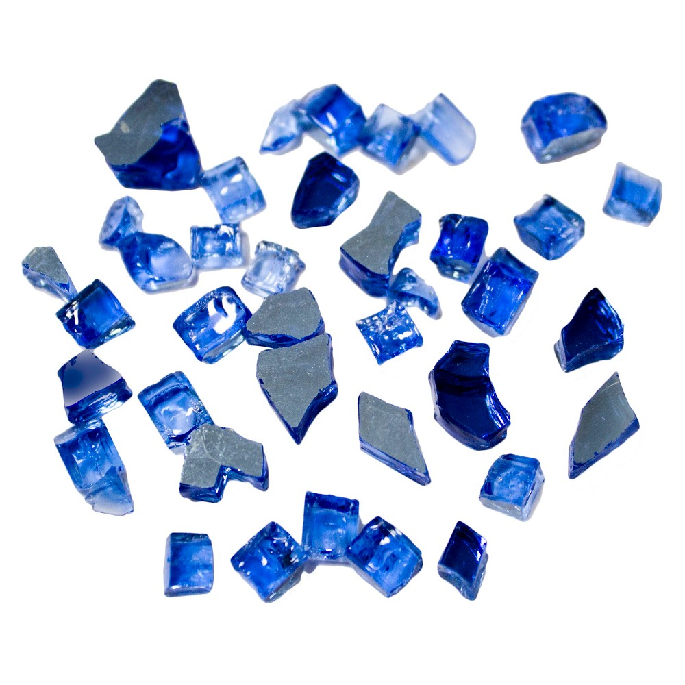 AZ Patio Heaters Reflective Fire Pit Fire Glass - Cobalt (Blue)