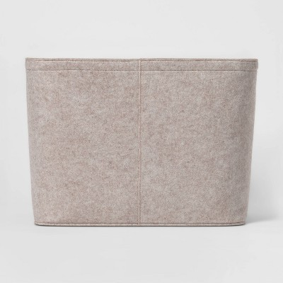 "14""x15"" Large Felt Basket With Stitching Oatmeal - Project 62™"
